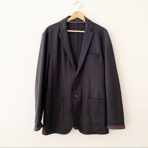 Henry Cottons Blazer jacket button up black sz 54